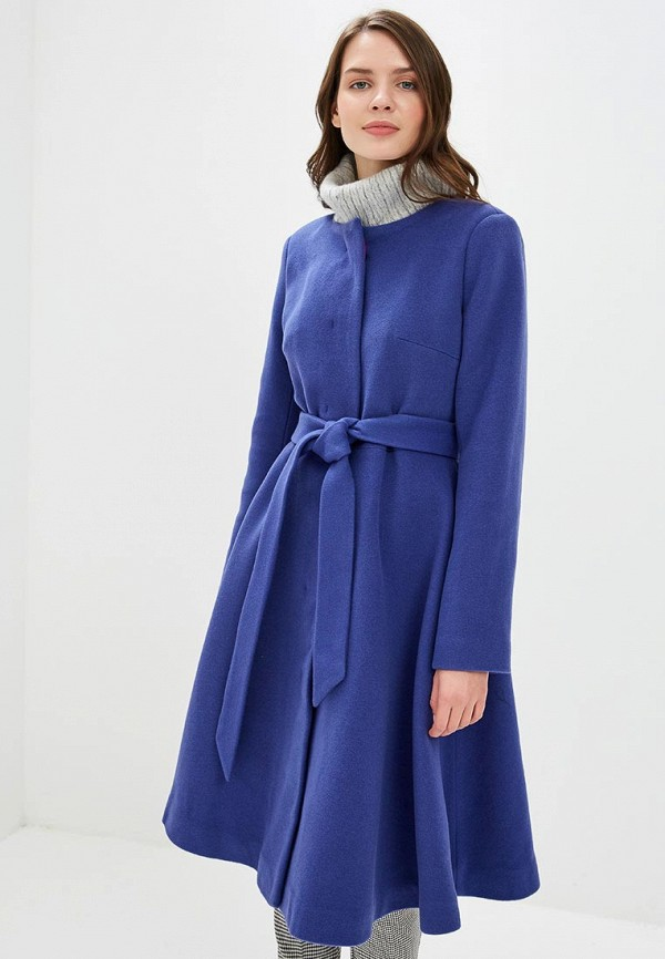 женское пальто pepen, синее