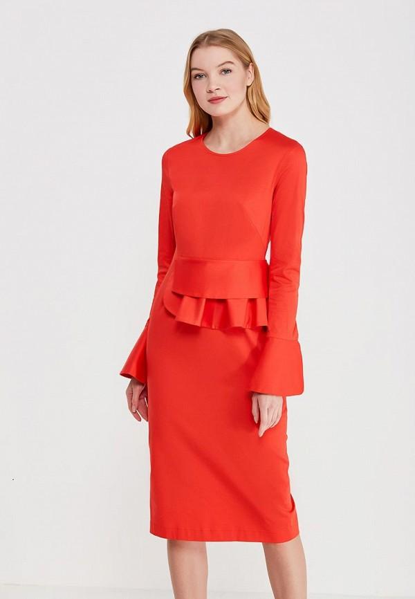 женское платье-футляр pepen, красное