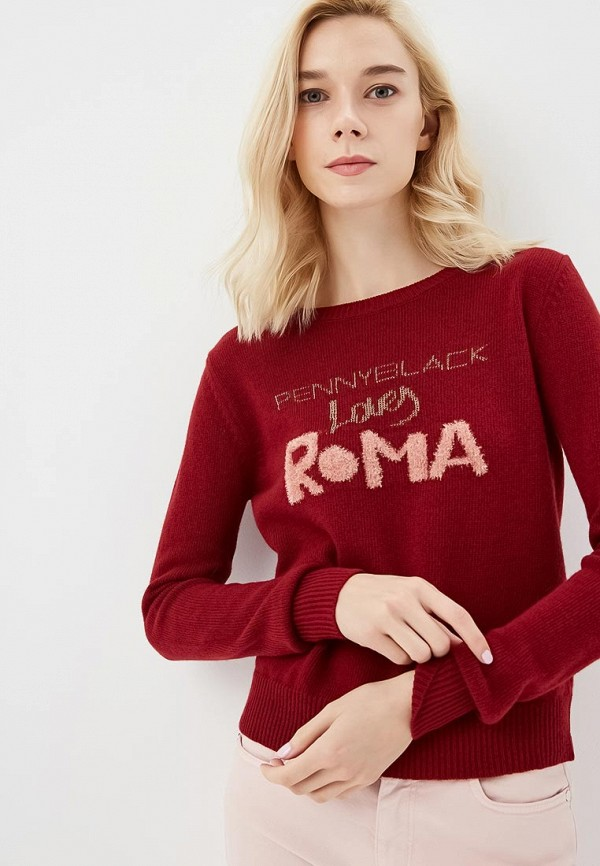 Купить Джемпер Pennyblack, pe003ewbxrn1, бордовый, Осень-зима 2018/2019