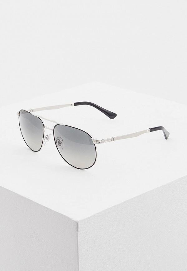 мужские солнцезащитные очки persol, серебряные
