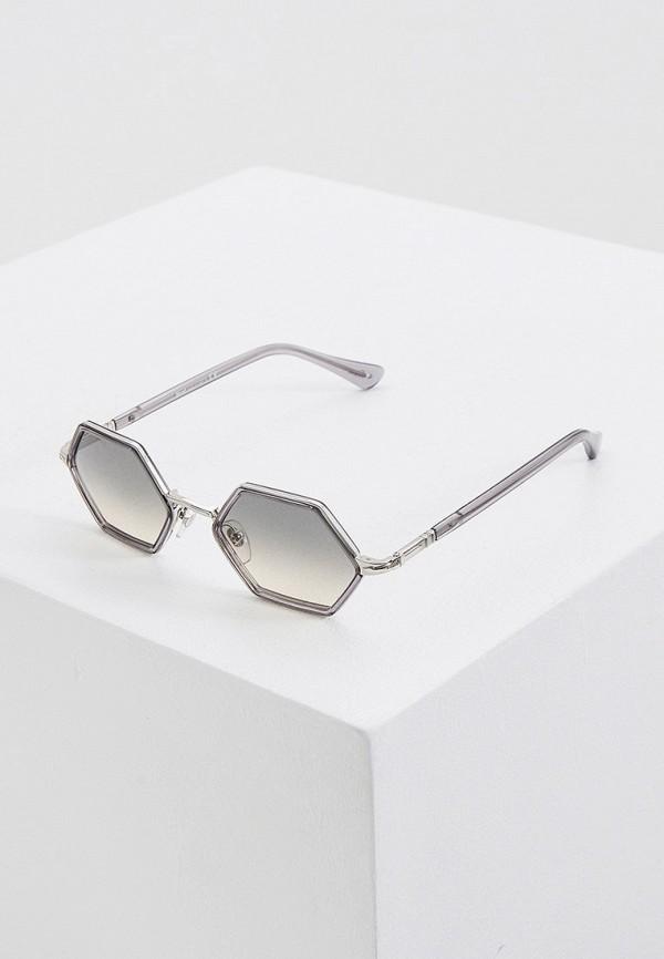 женские квадратные солнцезащитные очки persol, серые