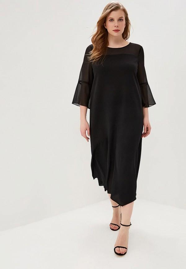 Фото 2 - женское повседневное платье Persona by Marina Rinaldi черного цвета