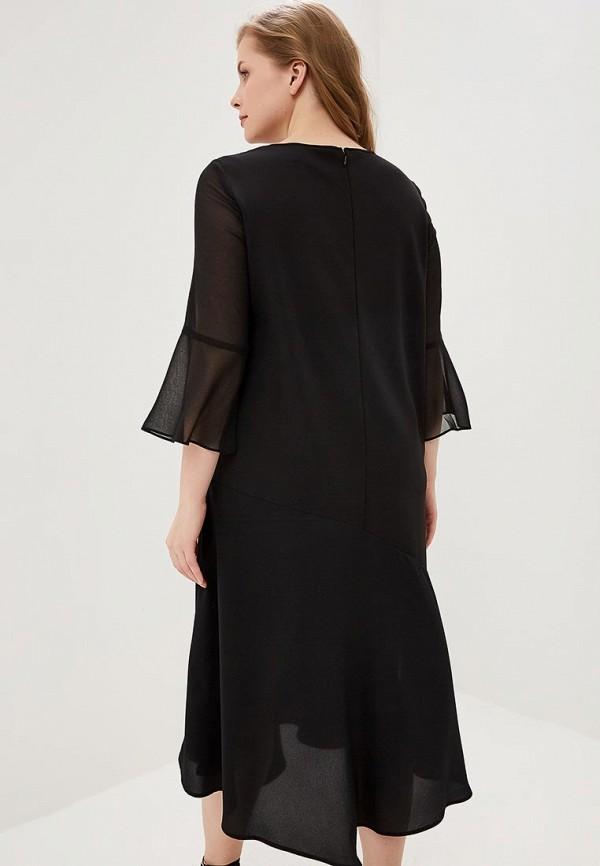 Фото 3 - женское повседневное платье Persona by Marina Rinaldi черного цвета