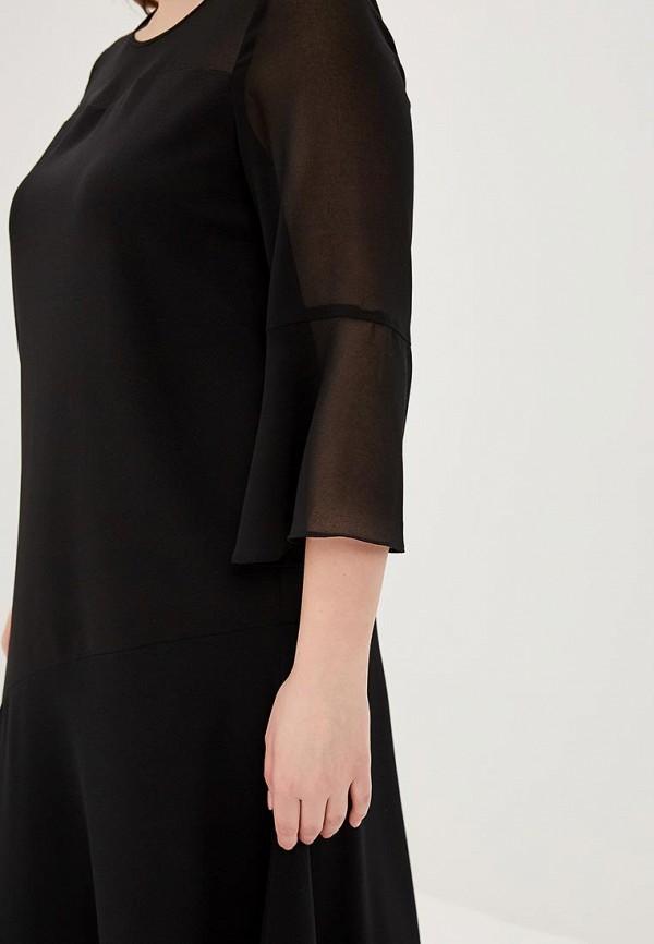 Фото 4 - женское повседневное платье Persona by Marina Rinaldi черного цвета