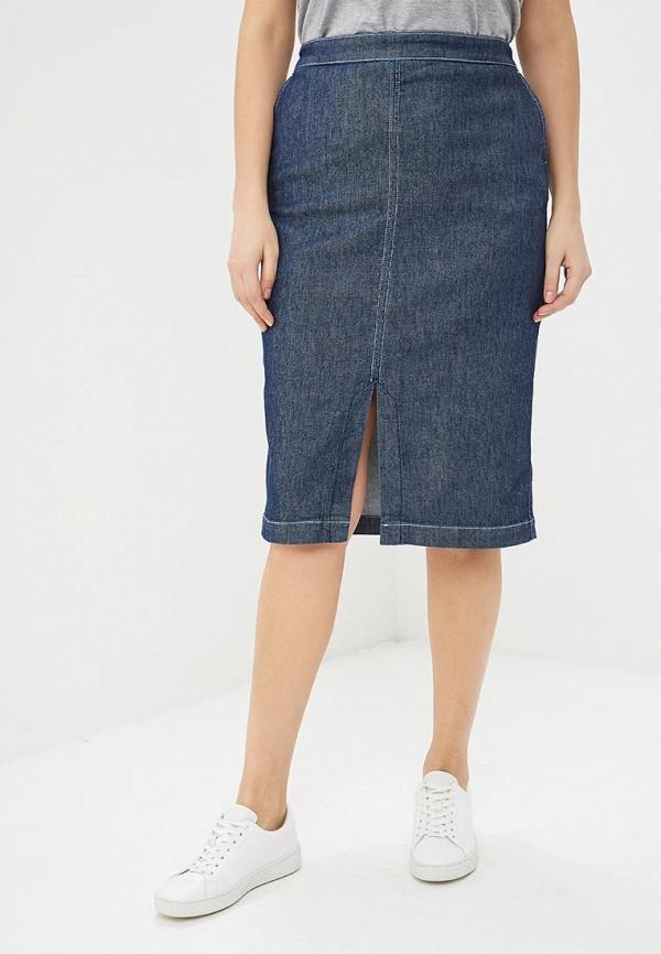 женская джинсовые юбка persona by marina rinaldi, синяя