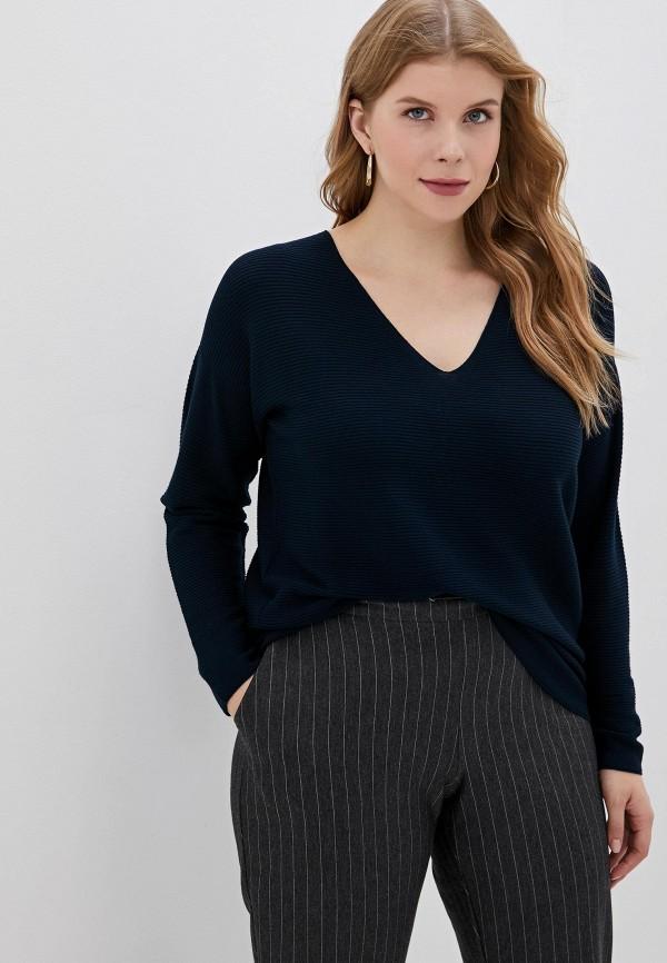 женский пуловер persona by marina rinaldi, синий