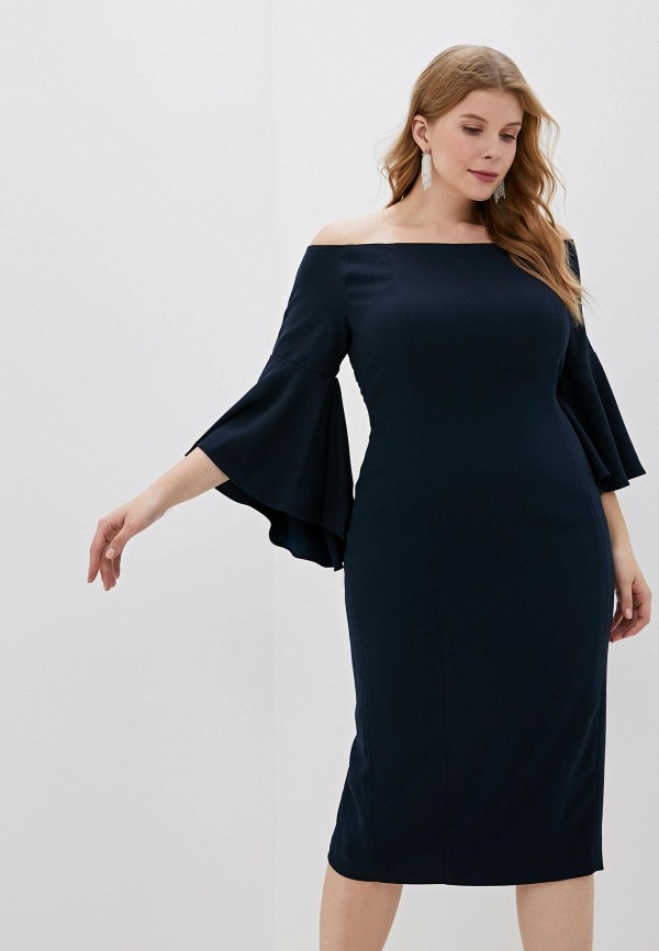 женское платье persona by marina rinaldi, синее