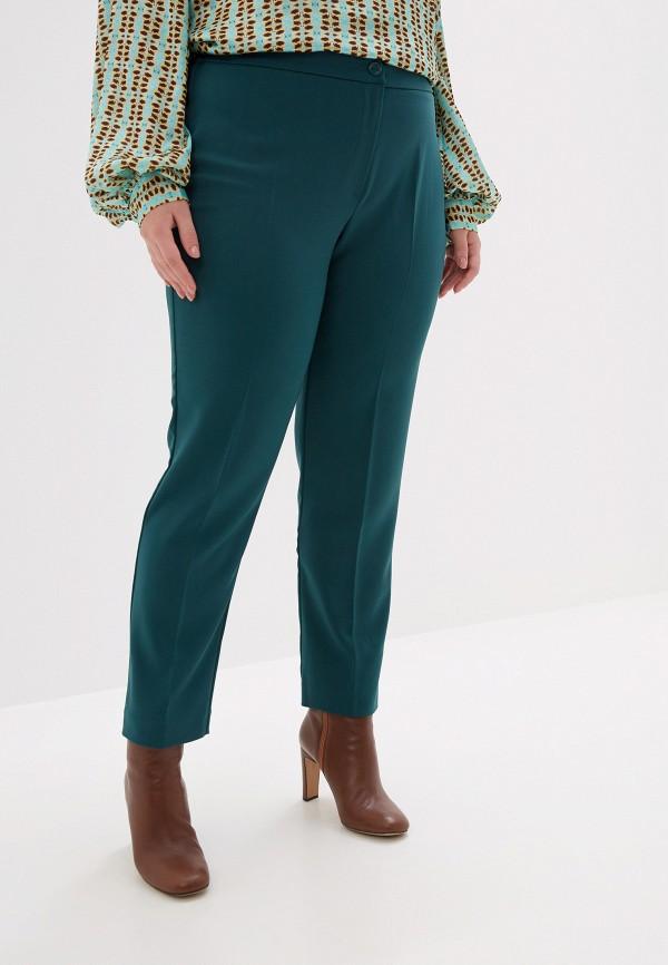 женские классические брюки persona by marina rinaldi, зеленые