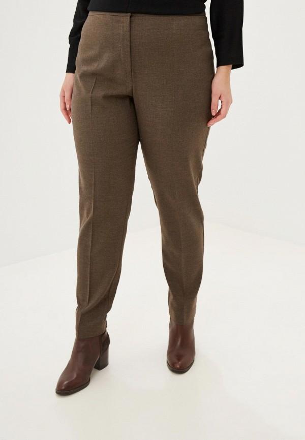 женские классические брюки persona by marina rinaldi, коричневые