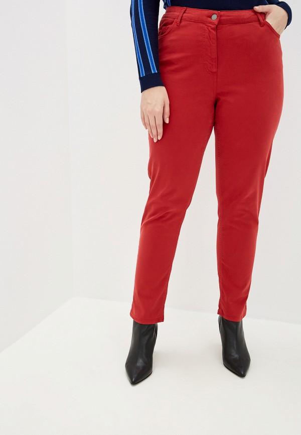 женские классические брюки persona by marina rinaldi, красные
