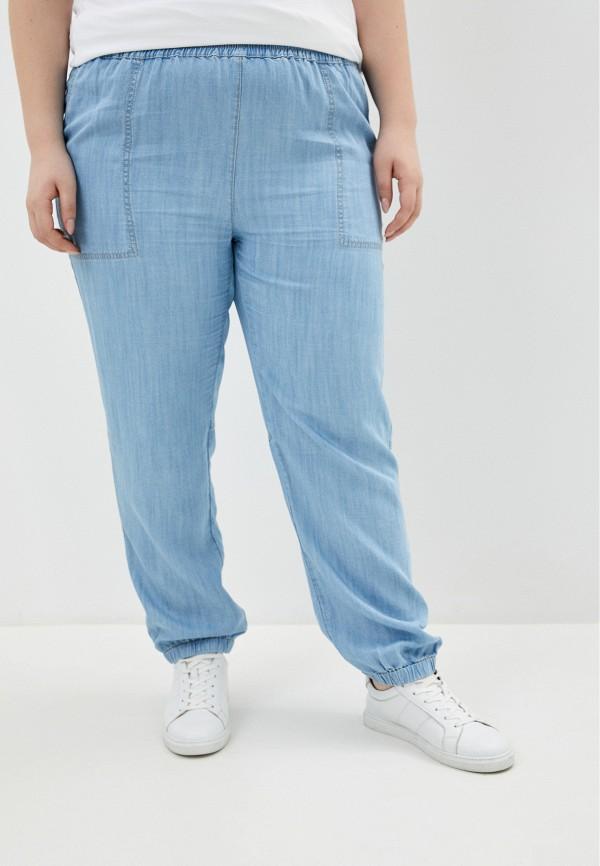 женские повседневные брюки persona by marina rinaldi, голубые