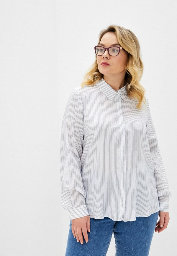 женская блузка persona by marina rinaldi, белая