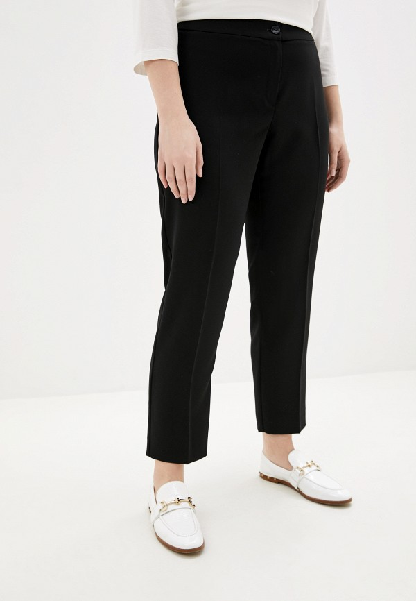 женские классические брюки persona by marina rinaldi, черные