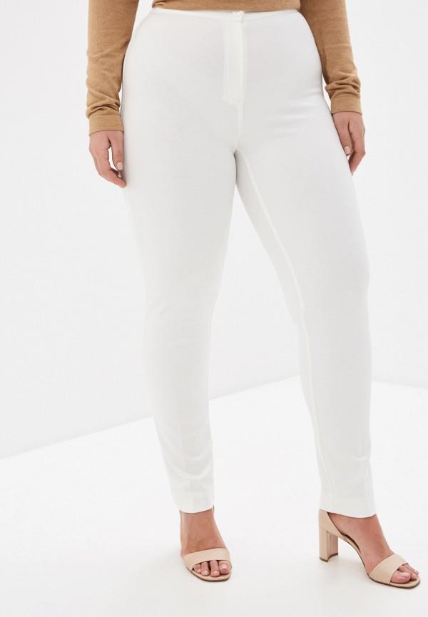 женские прямые брюки persona by marina rinaldi, белые