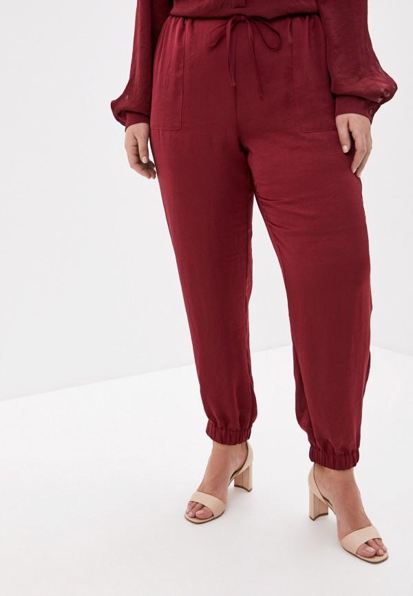 женские брюки persona by marina rinaldi, бордовые