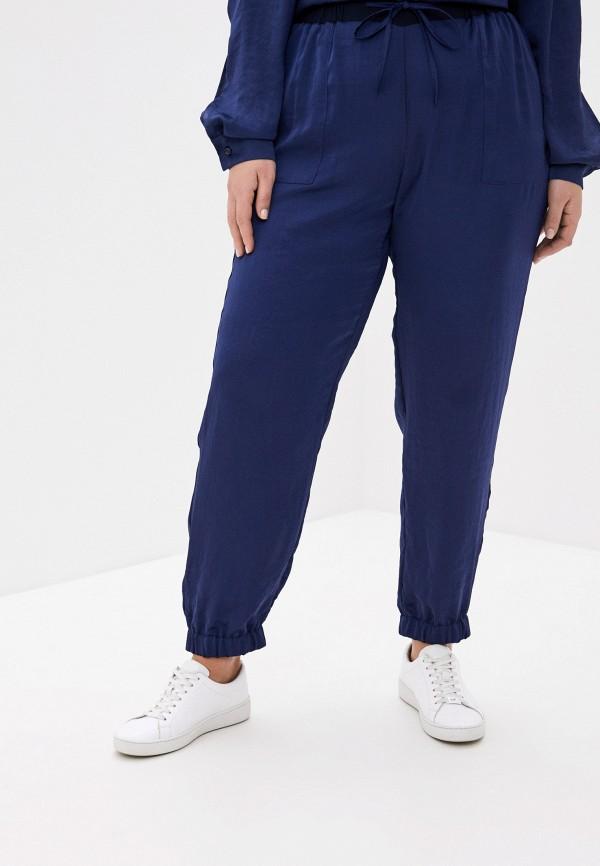женские брюки карго persona by marina rinaldi, синие