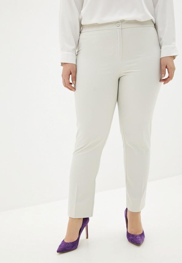 женские классические брюки persona by marina rinaldi, белые