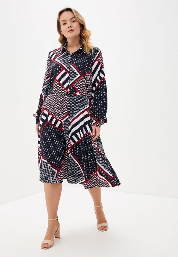женское платье persona by marina rinaldi, серое