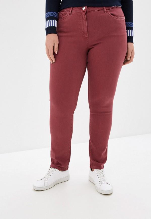 женские прямые брюки persona by marina rinaldi, бордовые