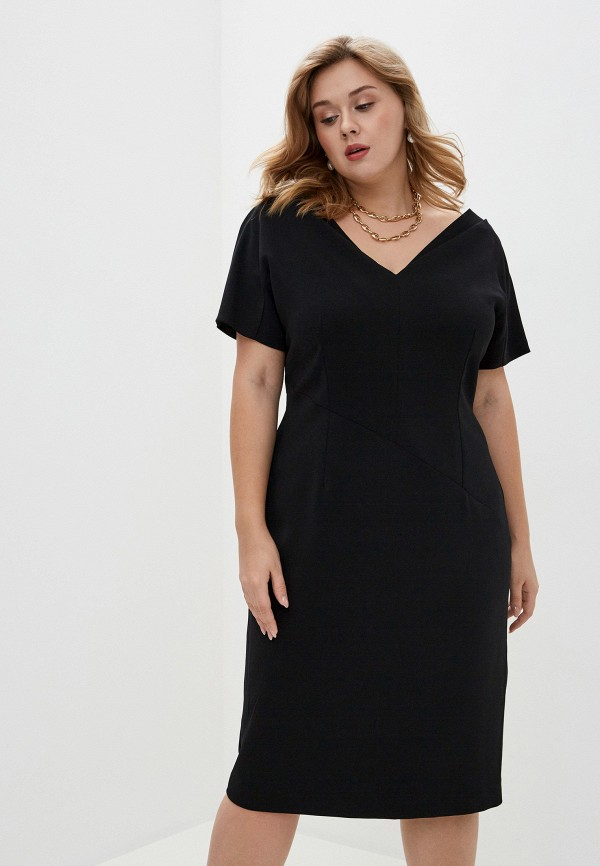 женское платье persona by marina rinaldi, черное