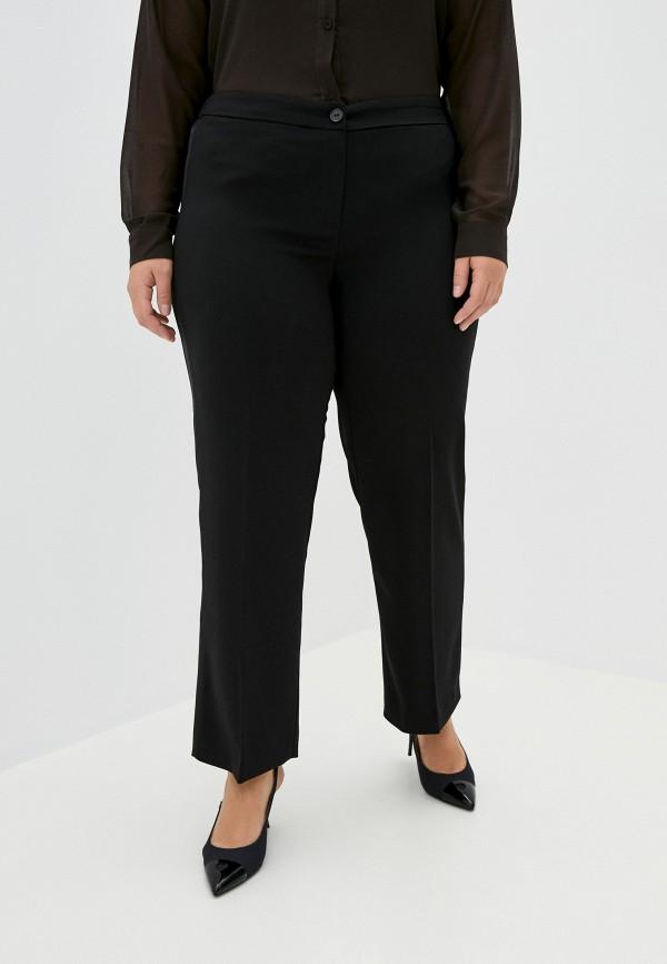женские прямые брюки persona by marina rinaldi, черные
