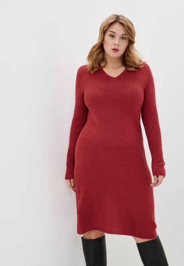 женское платье persona by marina rinaldi, бордовое