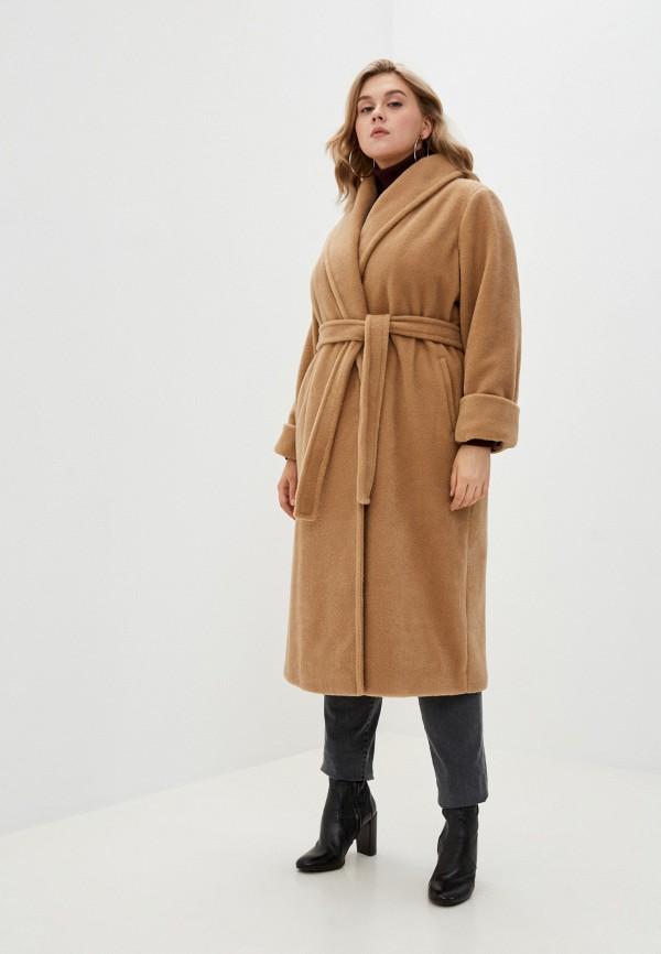 женское пальто persona by marina rinaldi, бежевое
