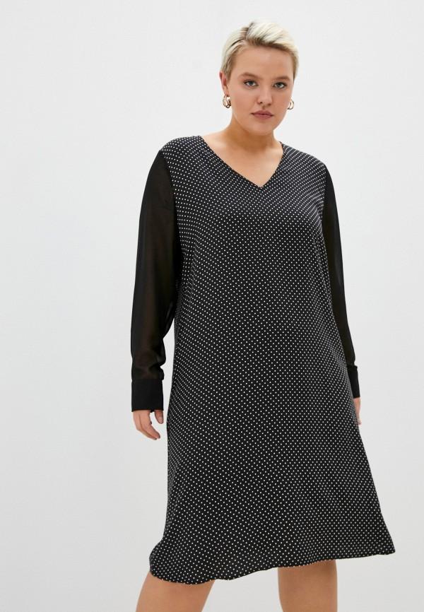 женское повседневные платье persona by marina rinaldi, черное