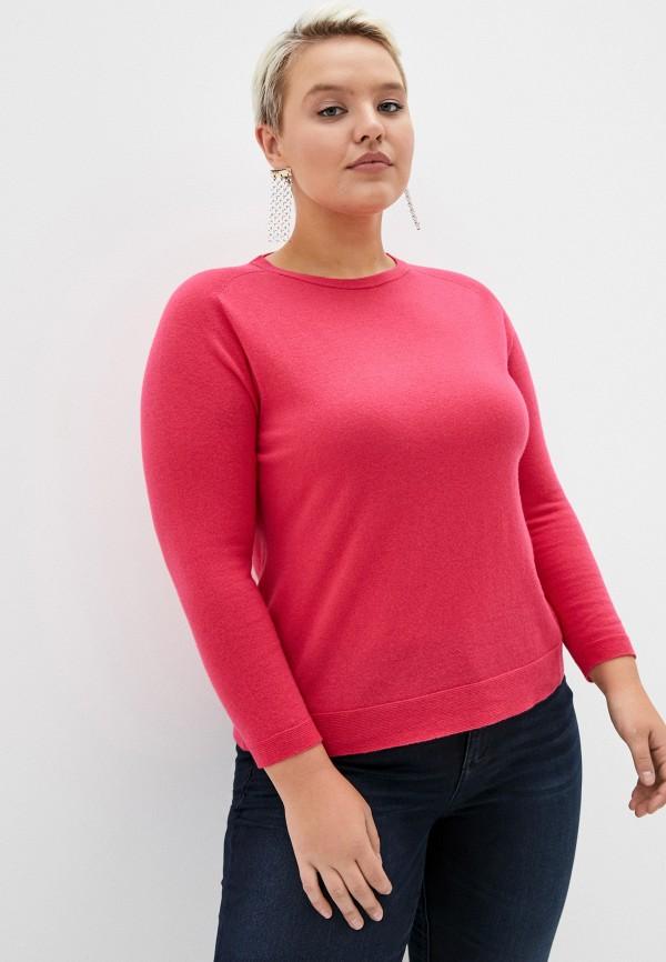 женский джемпер persona by marina rinaldi, розовый