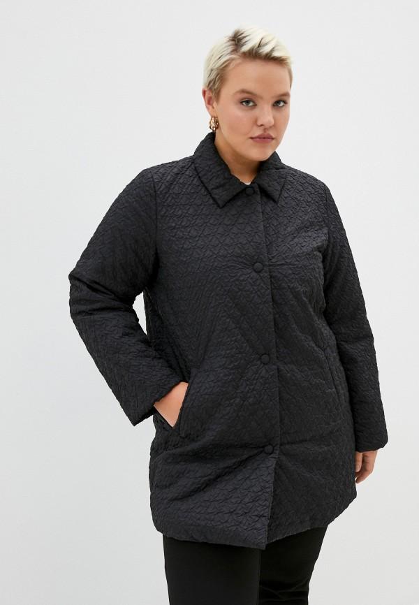 женская куртка persona by marina rinaldi, черная