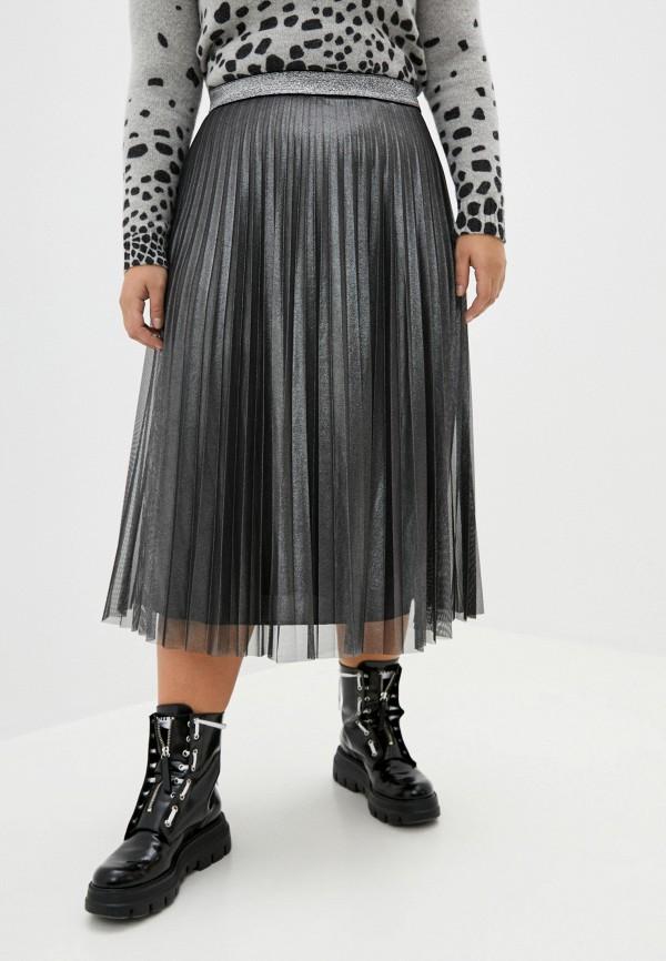 женская юбка persona by marina rinaldi, серая