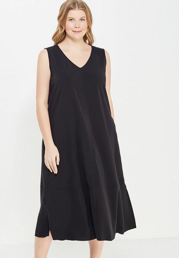 Фото - женское платье Persona by Marina Rinaldi черного цвета