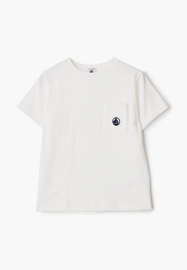 футболка с коротким рукавом petit bateau для мальчика, белая