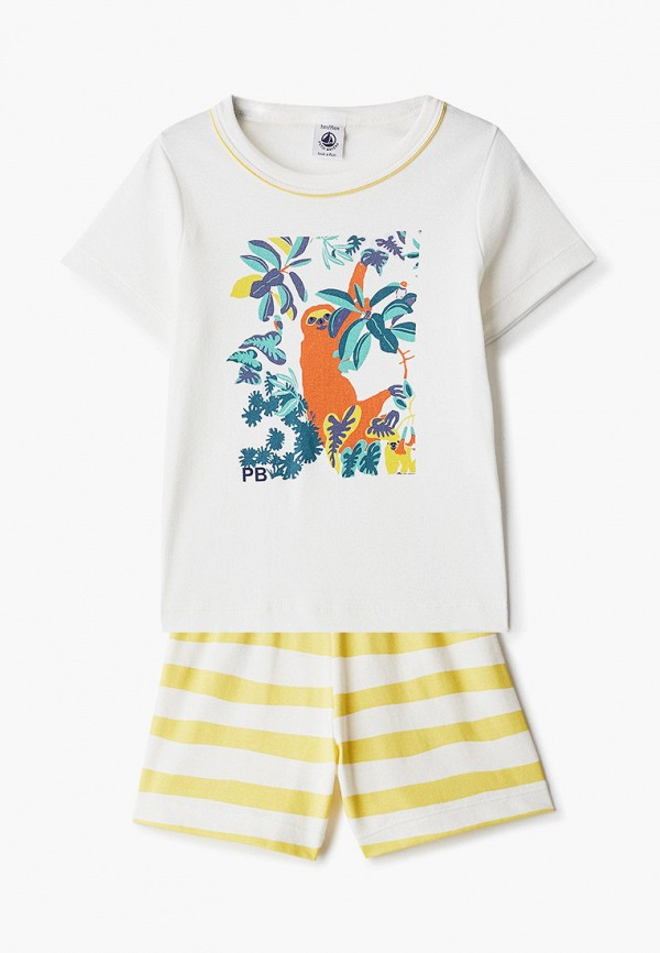 пижама petit bateau для мальчика, белая