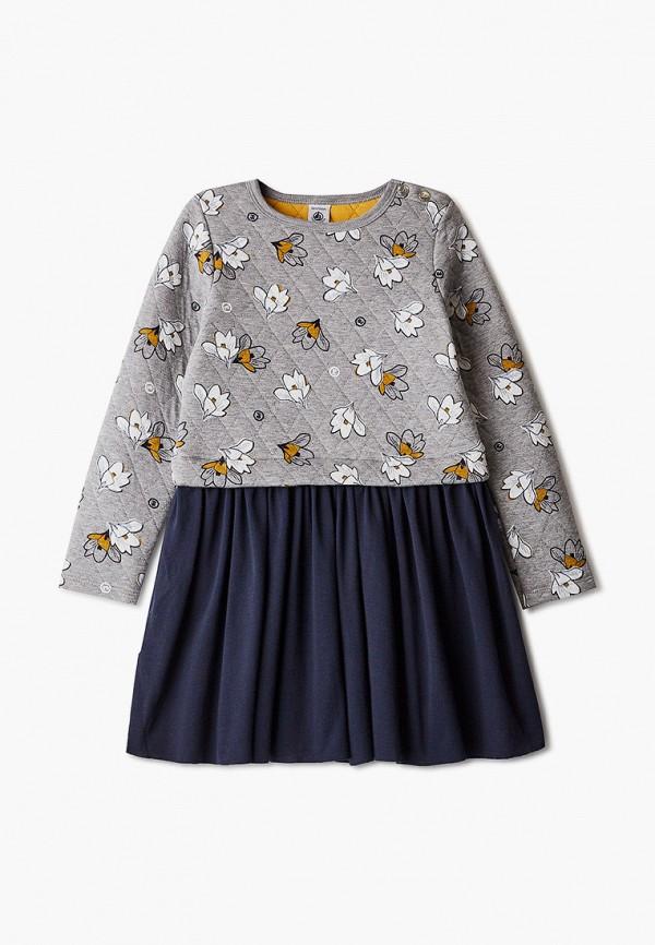 повседневные платье petit bateau для девочки, серое