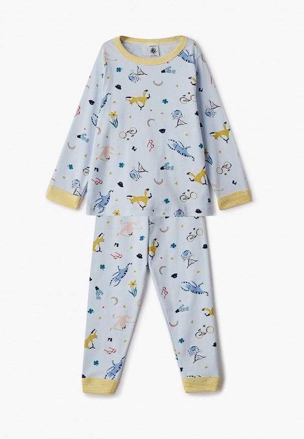 пижама petit bateau малыши, голубая