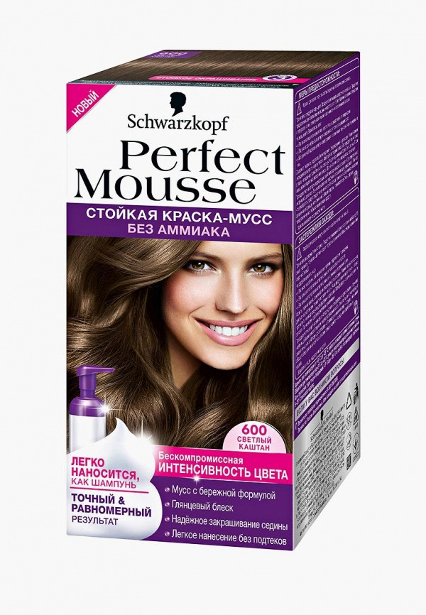 Купить Краска для волос Perfect Mousse, 600 Светлый Каштан, 35 мл, PE031LWJOL73, Осень-зима 2018/2019
