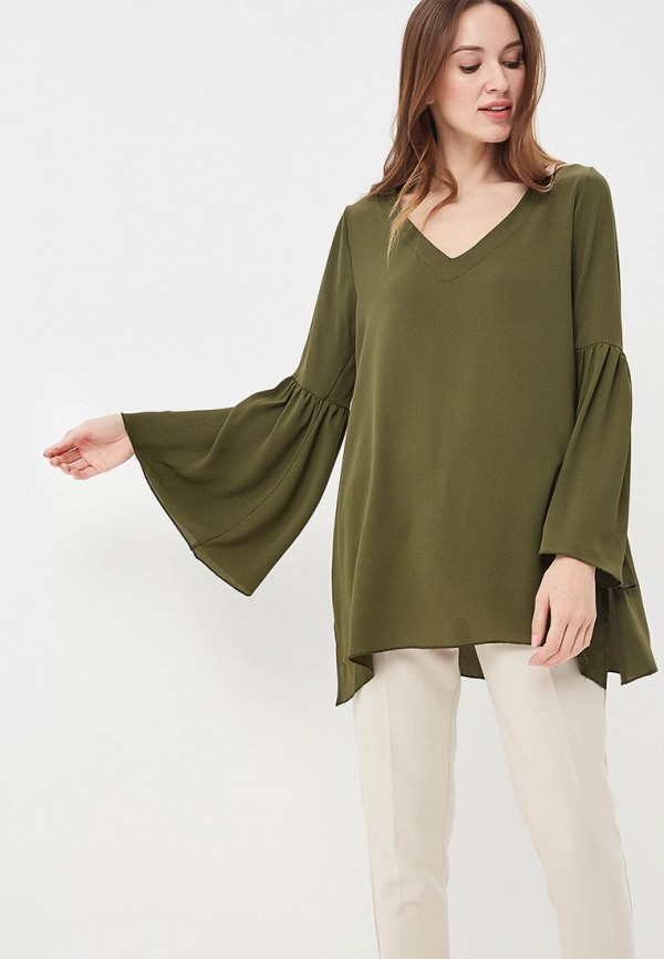 Купить Блуза Perfect J, pe033ewaowp9, хаки, Весна-лето 2018