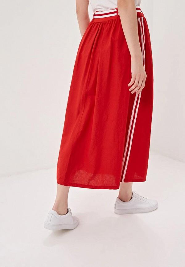 Фото 3 - женскую юбку Perfect J красного цвета