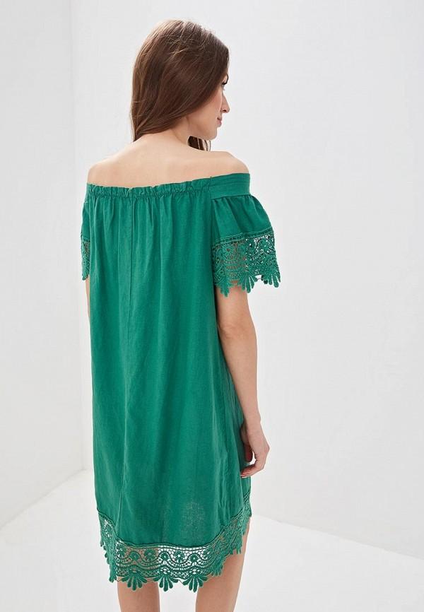 Фото 3 - женское платье Perfect J зеленого цвета