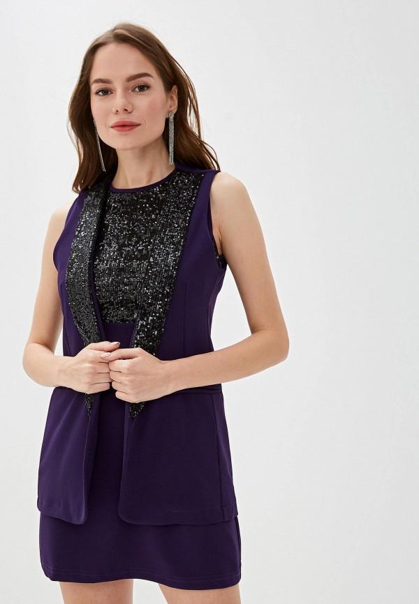 женский жилет perfect j, фиолетовый