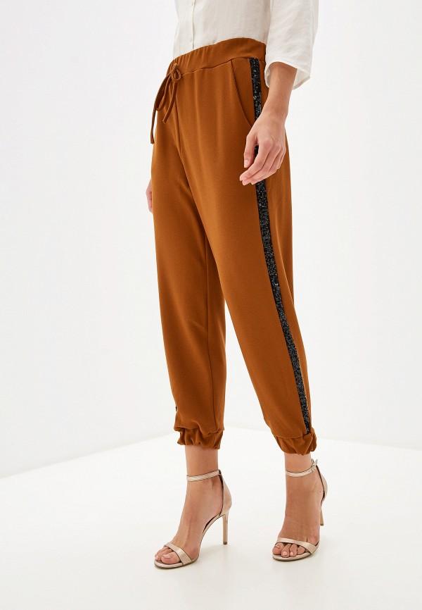 женские повседневные брюки perfect j, коричневые