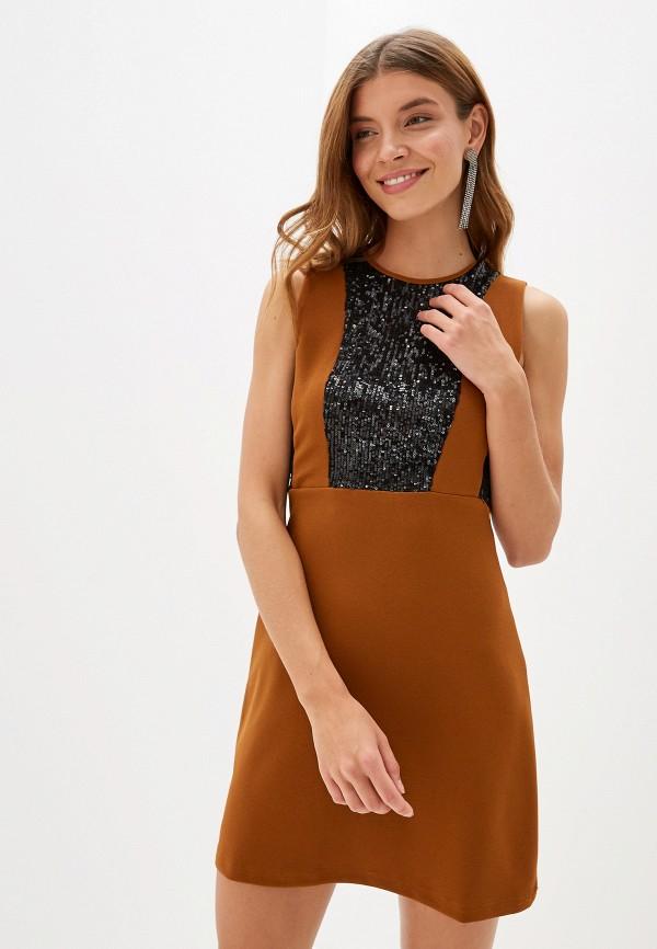 женское вечерние платье perfect j, коричневое