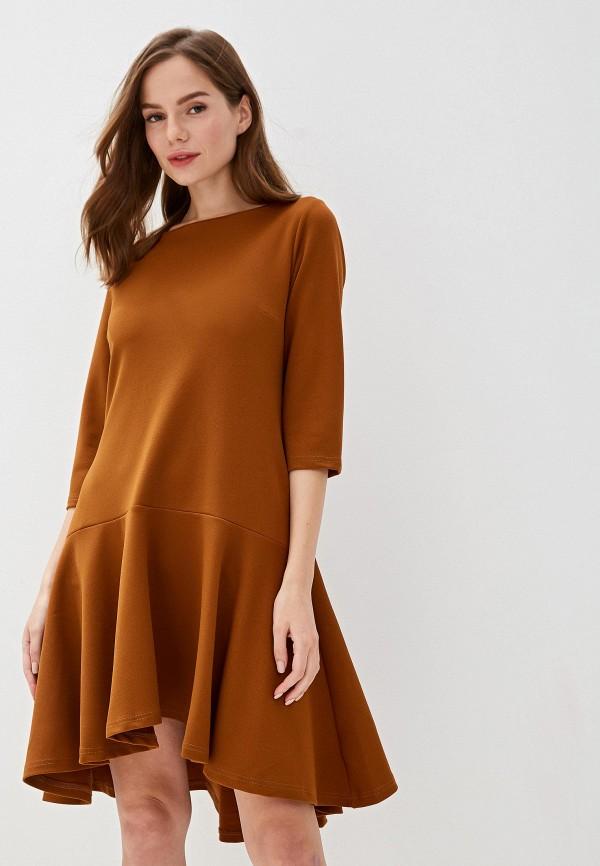 женское повседневные платье perfect j, коричневое