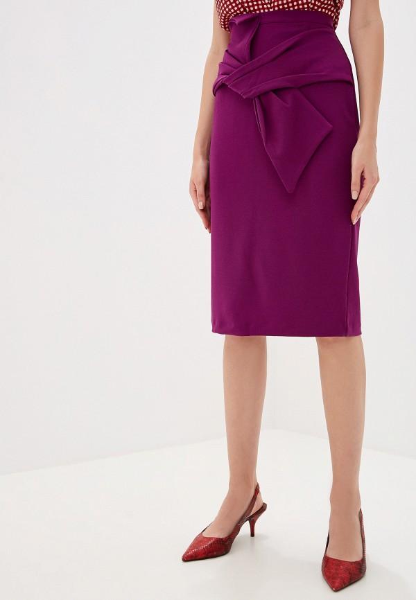 женская зауженные юбка perfect j, фиолетовая