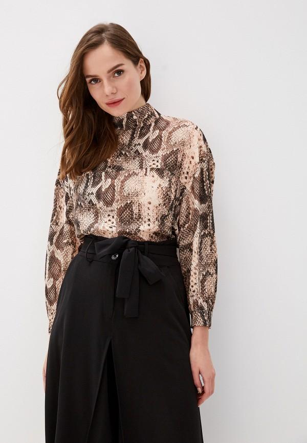 женская блузка perfect j, коричневая
