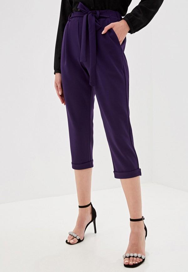 женские повседневные брюки perfect j, фиолетовые