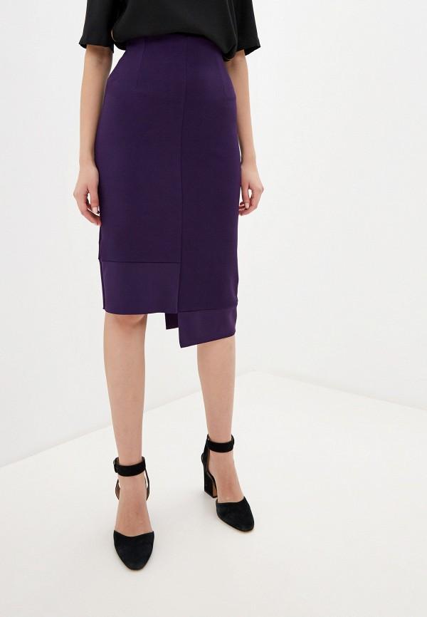 женская прямые юбка perfect j, фиолетовая