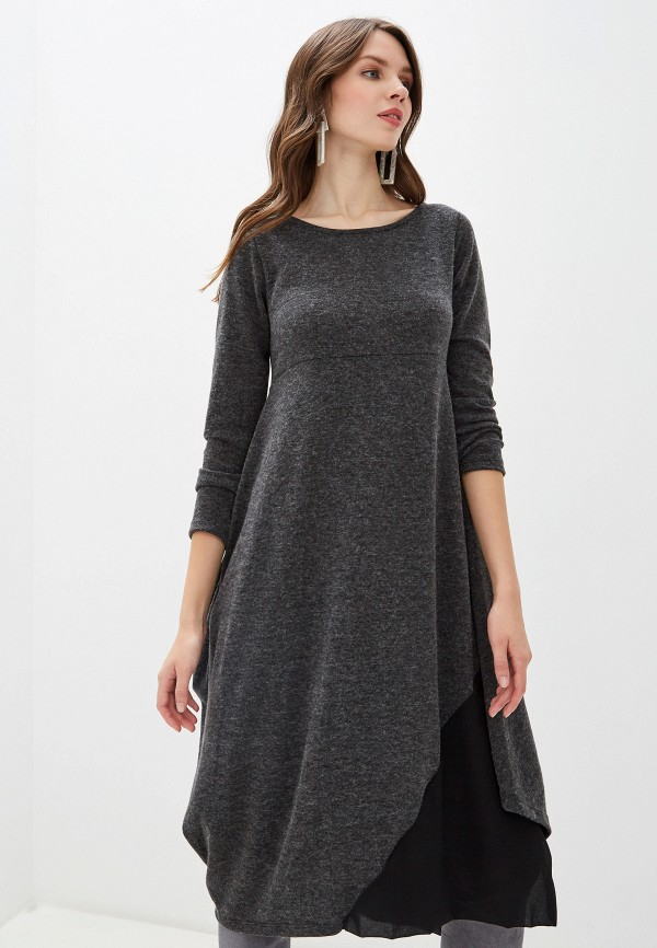 женское повседневные платье perfect j, серое