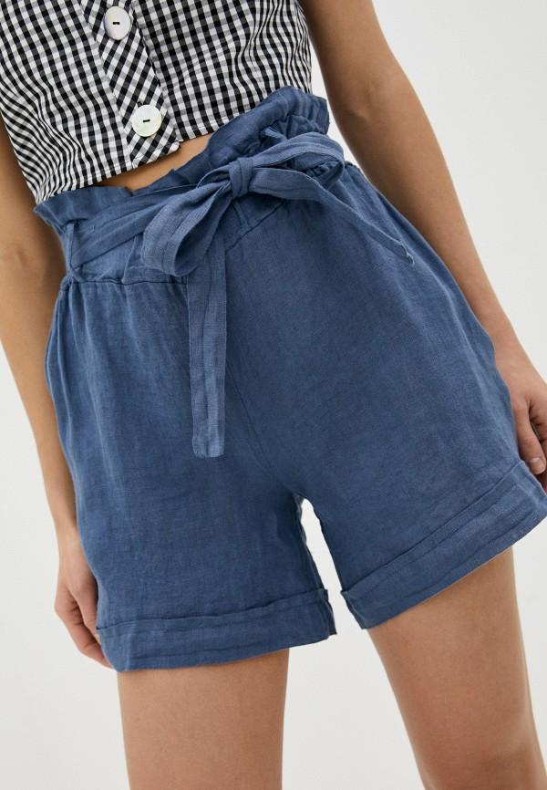 женские повседневные шорты perfect j, синие